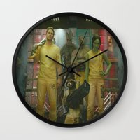 guardians of the galaxy Wall Clocks featuring Guardians of The Galaxy by Kelsey