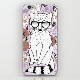 Raccoon in a Garden iPhone Skin