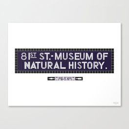 81st Street, Museum of Natural History Canvas Print