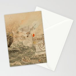 Ogata Gekko - Sino-Japanese War: The Japanese Navy Victorious Off Takushan (1895) Stationery Cards