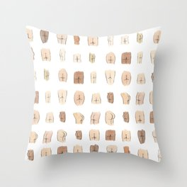 Lotsa Butts! Throw Pillow