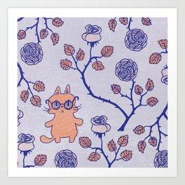 Philosophical cat Art Print