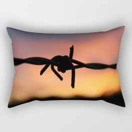 Barbed Silhouette Rectangular Pillow