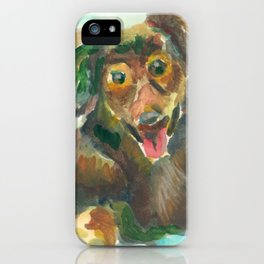 Jumpy Puppy iPhone Case