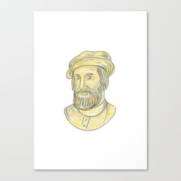 Hernan Cortes de Monroy Drawing Canvas Print