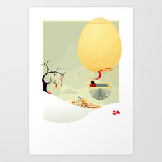 The Magic Balloon Art Print