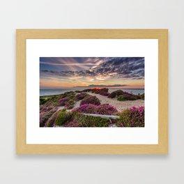 Headon Hill Sunset Isle Of Wight Framed Art Print