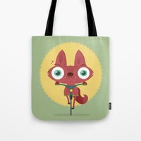 bicycle Tote Bags featuring Bicycle by Maria Jose Da Luz