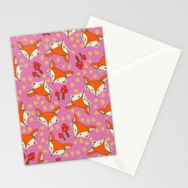 Foxy floral Stationery Cards
