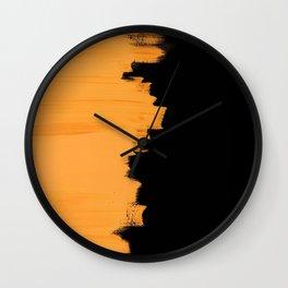 Orange impact Wall Clock