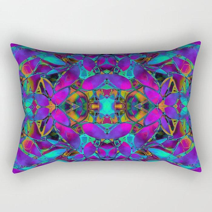Fractal Floral Abstract G293 Rectangular Pillow