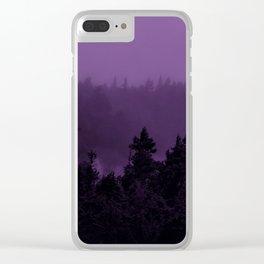 Purple Fog Clear iPhone Case