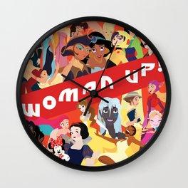Woman Up! Wall Clock