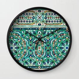 Moroccan Mosaic 2 Wall Clock