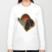 guitar Long Sleeve T-shirts featuring Guitar by Bruce Stanfield