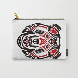 TRIBAL GRIZZLY (haida style mix) Carry-All Pouch