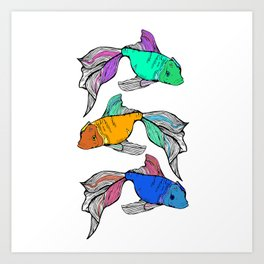 Sea-life Collection - Rainbow Fish Art Print
