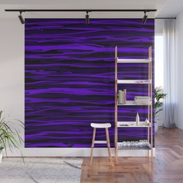 Blue Violet Abstract Stripes Wall Mural