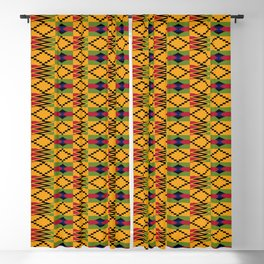 African kente pattern 6 Blackout Curtain