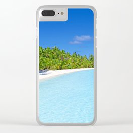 Palm Tree Tropical Island Paradise Clear iPhone Case