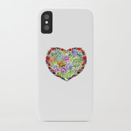 flowers in the heart iPhone Case