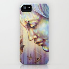 Saint Francis with birds - oil painting iPhone Case