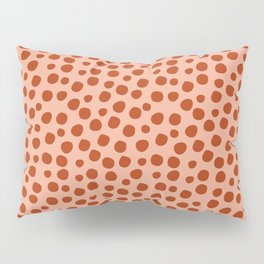 Irregular Small Polka Dots terracota Pillow Sham