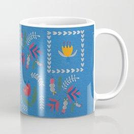 Heart of Silver – Blue Bell – Scandinavian Folk Art Coffee Mug