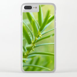 Yew foliage Clear iPhone Case