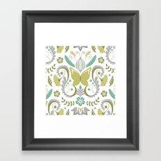 Butterfly Damask - Spring Mod Framed Art Print