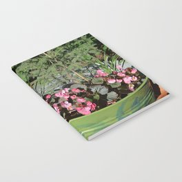 Sun kissed Garden Angel and Begonias Notebook