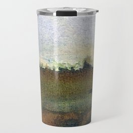 English countryside watercolour and ink landscape painting Travel Mug