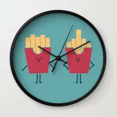 Middle Fry Wall Clock