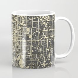 Orlando Map yellow Coffee Mug