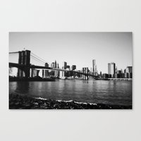 brooklyn Canvas Prints featuring Brooklyn by Ariane Moshayedi Photography