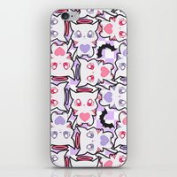 pastel goth iPhone & iPod Skins featuring Angelic Kitty (Pastel Goth) by display