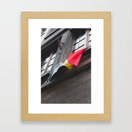 Belgium Flag Framed Art Print