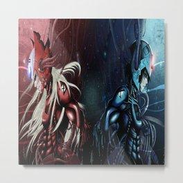 Megaman X & Zero Metal Print