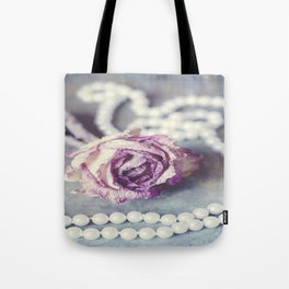 Pearls and Rose Tote Bag
