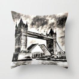 Tower Bridge and the Waverley Art Throw Pillow