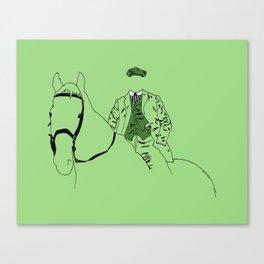 Horse and Fashion Verte Canvas Print