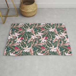Crazy Tropical Plant Lady Rug