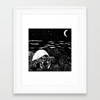 crab Framed Art Prints featuring Crab by Megan Spencer