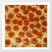pizza Art Prints featuring Pizza by Katieb1013
