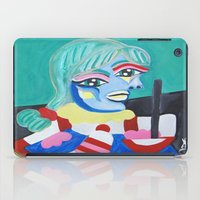 pablo picasso iPad Cases featuring Picasso Remake 2000   by Artist_Fran_Doll