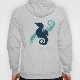 """Seahorse Silhouette"" ` digital illustration by Amber Marine, (Copyright 2015) Hoody"