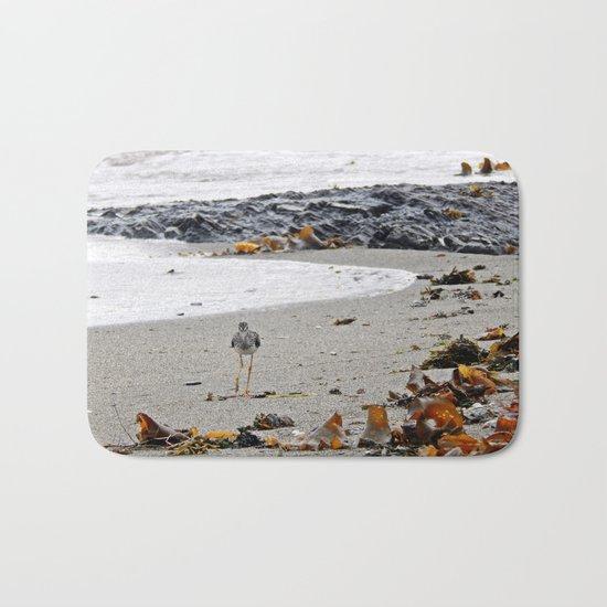 Greater Yellowlegs Strolling on the Beach Bath Mat