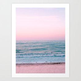 Ocean Pink Blush Art Print