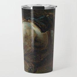 "Circle of Théodore Géricault ""A grey charger"" Travel Mug"
