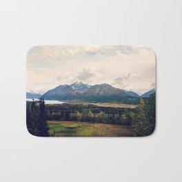 Fall Alaskan Mountain Crisp Landscape Bath Mat